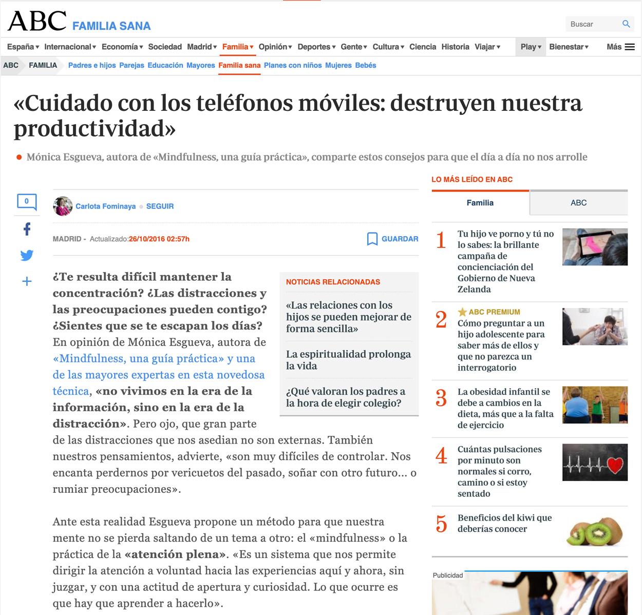 Mónica Esgueva en ABC.es